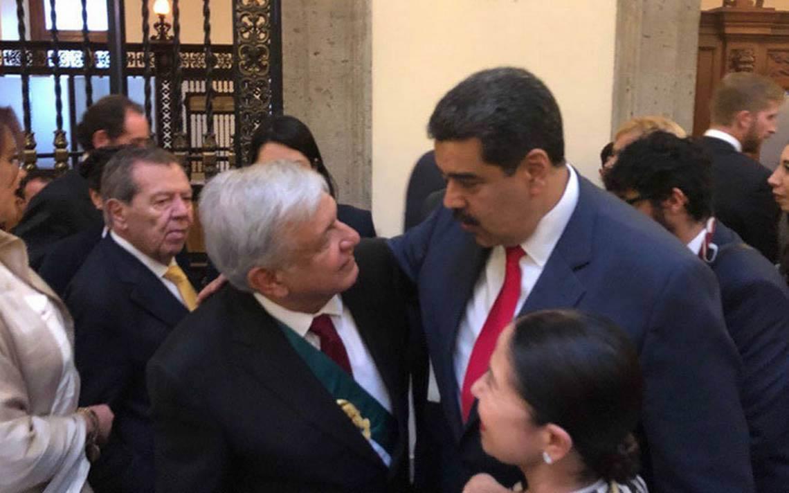 AMLO y Nicolás Maduro