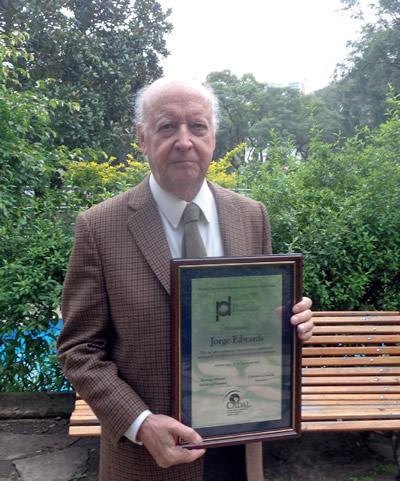 Jorge Edwards, un Premio Especial a la Diplomacia Comprometida en Cuba